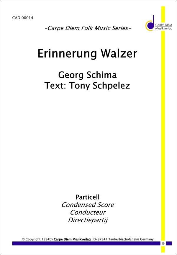 Erinnerung Walzer | Noten - Walzer | Georg Schima