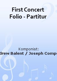 First Concert Folio - Partitur