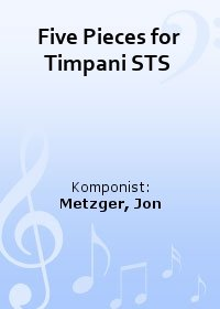 Five Pieces for Timpani STS