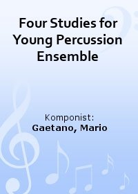 Four Studies for Young Percussion Ensemble
