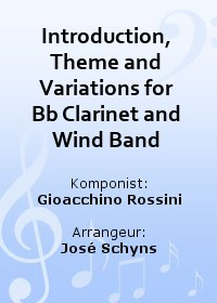 Introduction, Theme and Variations for Bb Clarinet and Wind Band