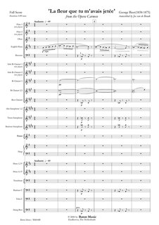 La fleur que tu mavais jet�e from the Opera Carmen for Soprano and Symphonic Band