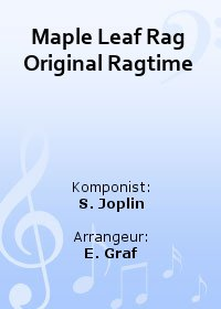 Maple Leaf Rag (Original Ragtime)