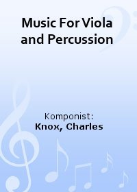 Music For Viola and Percussion