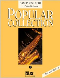 Popular Collection Band 5 für Alt-Sax & Klavier Keyboard