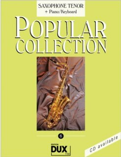Popular Collection Band 6 für Tenor-Sax & Klavier Keyboard