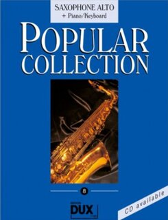 Popular Collection Band 8 für Alt-Sax & Klavier Keyboard