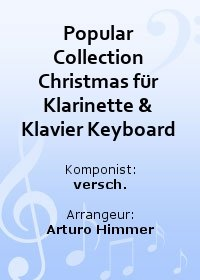Popular Collection Christmas für Klarinette & Klavier Keyboard