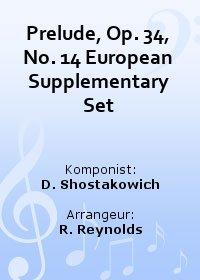 Prelude, Op. 34, No. 14 European Supplementary Set