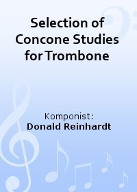 Selection of Concone Studies for Trombone
