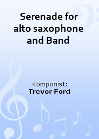 Serenade for alto saxophone and Band
