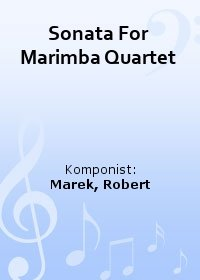 Sonata For Marimba Quartet