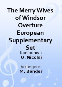The Merry Wives of Windsor Overture European Supplementary Set