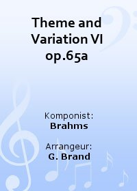 Theme and Variation VI op.65a