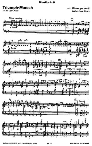 ... Blasorchester Noten für Blasorchester Triumphmarsch aus der Oper Aida