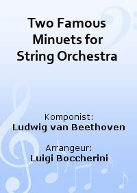 Two Famous Minuets for String Orchestra