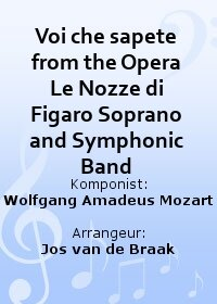 Voi che sapete from the Opera Le Nozze di Figaro Soprano and Symphonic Band