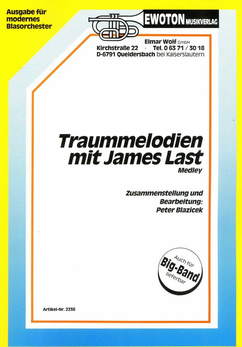 Traummelodien mit James Last Medley   Noten - Medleys   Arr. Peter ...