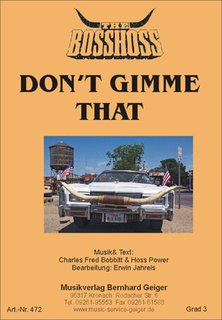 Dont gimme that - The BossHoss