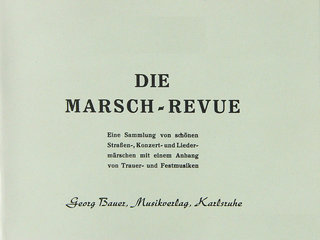 Marsch-Revue (1. Klarinette in Bb)