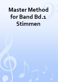 Master Method for Band - Bd. 1 Partitur