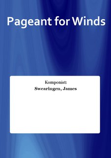 Pageant for Winds