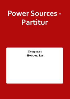 Power Sources - Partitur