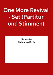 One More Revival - Set (Partitur und Stimmen)