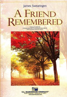 Friend Remembered, A - Partitur