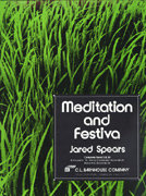 Meditation and Festiva - Partitur