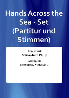 Hands Across the Sea - Set (Partitur und Stimmen)