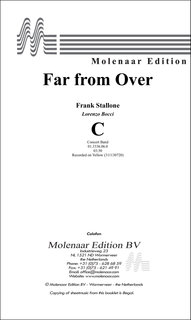 Far from Over - Partitur