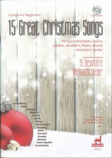 15 Great Christmas Songs for 1-2 instruments or voices and piano