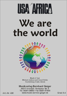 We are the world - USA for Africa - Dirigierpartitur für Gemischen Chor