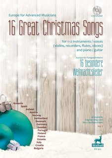 16 Great Christmas Songs für 1-2 Melodie-Instrument(e) / Klavier