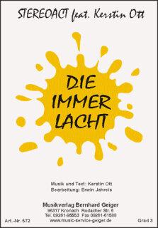 Die Immer Lacht Stereoact Feat Kerstin Ott Noten
