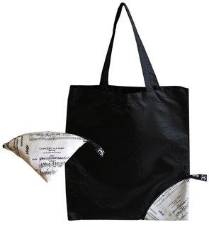 Shopping-Bag Tasche mit Notenlinien