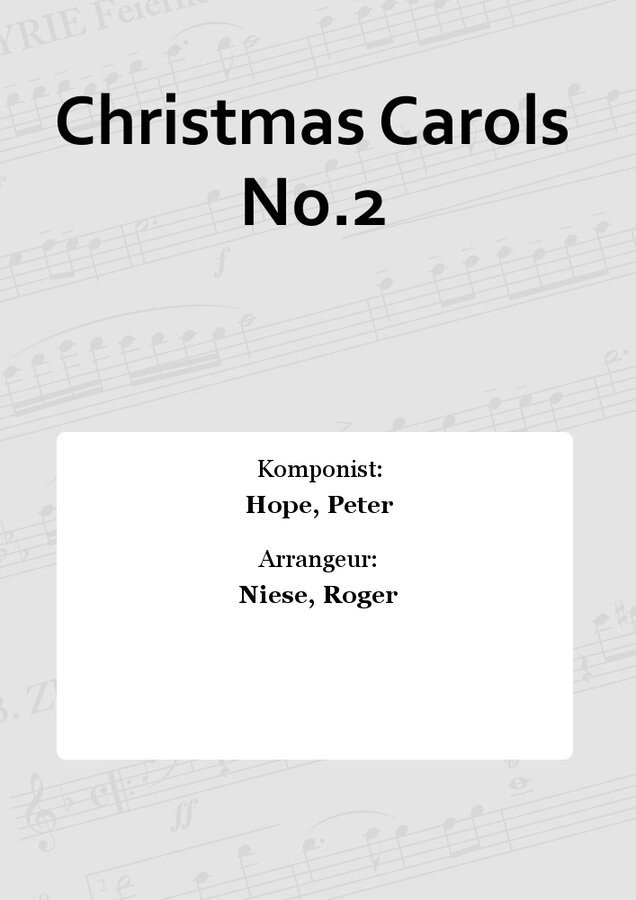 Christmas Carols No.2 | Noten - Blasorchester mit Chor | Peter Hope ...
