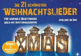 Weihnachtslieder Partitur.Die 21 Schönsten Weihnachtslieder Noten Gemischte Trios