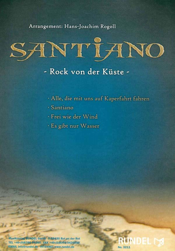 Santiano - Rock von der Küste | Noten - Schlager | Arr. Hans Joachim ...