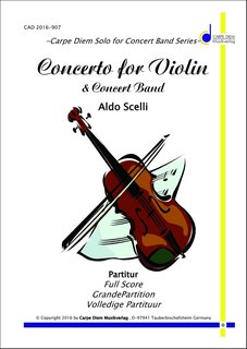 ef824af8940 Concerto for Violin and Concert Band | Noten - Solowerke | Aldo Scelli