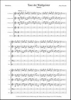 Tanz Der Waldgeister Mantra Noten Jugendblasorchester Peter