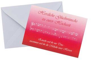Doppelkarte Herzlichen Glückwunsch Zur Hochzeit Schreibwaren